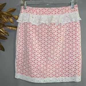 NWT - ASOS White Peplum Skirt w Ruffle - Size 6